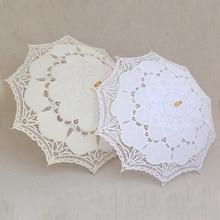 Gratis Verzending Kant Handleiding Opening Bruiloft Paraplu Bruid Parasol Paraplu Accessoires Voor Wedding Bridal Shower Paraplu 8