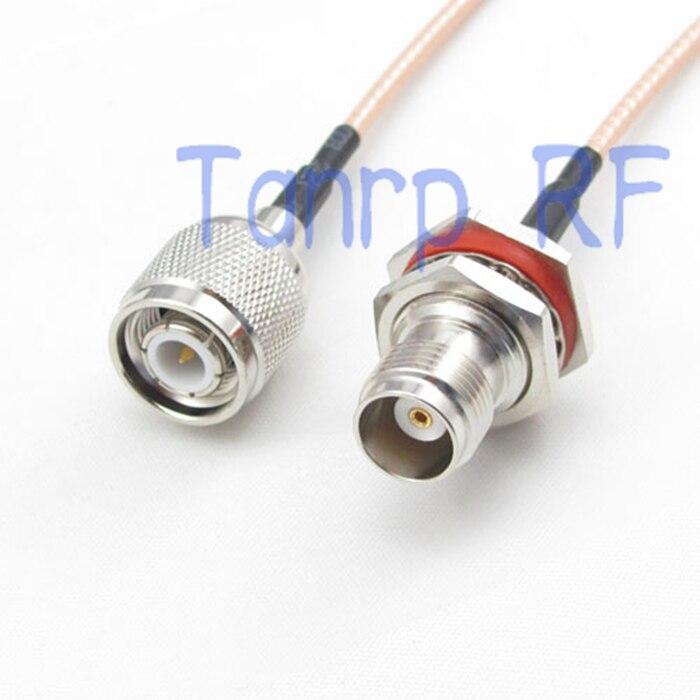 10 قطعة 15 سنتيمتر ضفيرة محوري الطائر كابل RG316 تمديد الحبل 6 بوصة TNC الذكور المكونات إلى TNC أنثى جاك RF محول موصل
