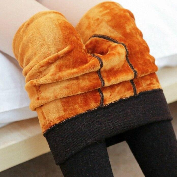 Pantimedias con forro Polar para mujer, envío gratis, térmicas, Extra gruesas, sólidas, sin pies para invierno, medias 330-350 gramos