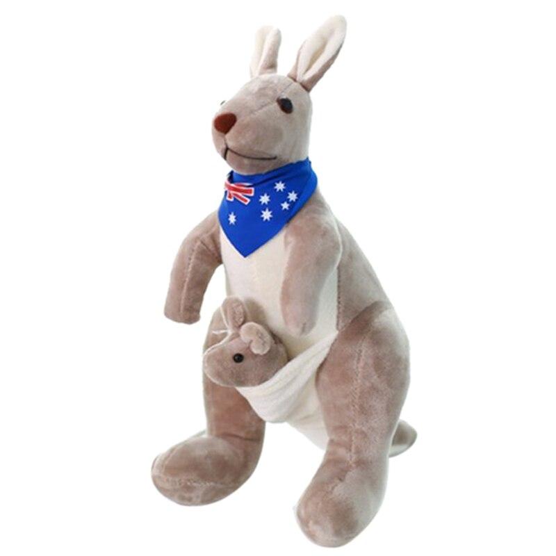 Plüsch Tiere Weiche Plüsch Spielzeug Australien Känguru Durchführung Baby Angefüllte Plüsch Tiere Känguru Mutter & Sohn Sammlung Kinder Spielzeug