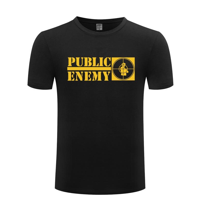 Music Rap Public Enemy T Shirts Men Hip Hop Short Sleeve O Neck Cotton Man T-Shirt Cool Funny Streetwear Top Tee Big Size