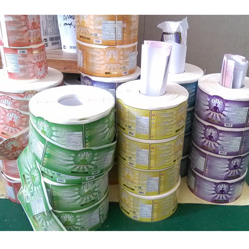 Fancy roll waterproof vinyl transparent adhesive label strip