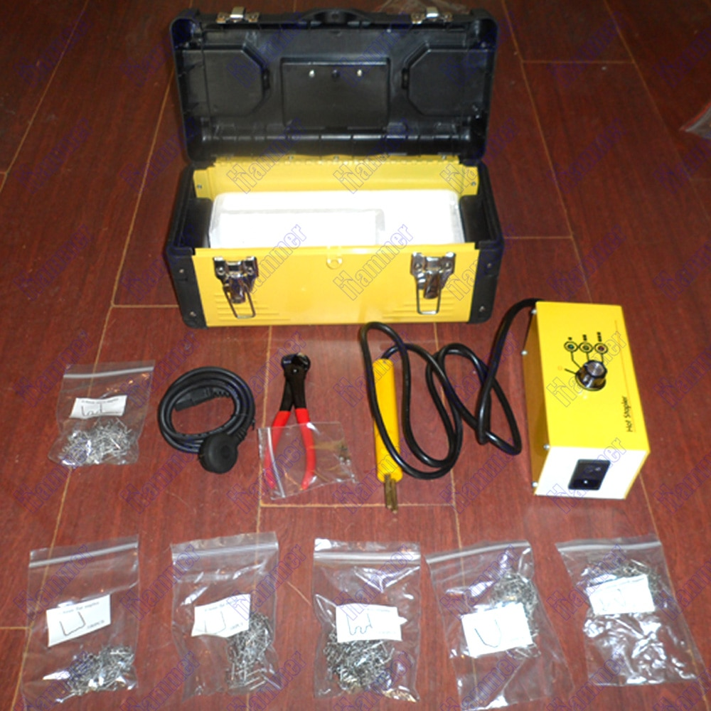 Пластиковый сварочный аппарат 110v 220, набор для ремонта пластиковых степлеров для двигателя или автомобиля
