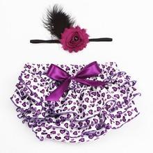 Baby Meisje Knickerbockers met Bloem Hoofdband Hart Ruche Baby Luier Cover Pasgeboren Photo Props Outfit Zomer Shorts KS011