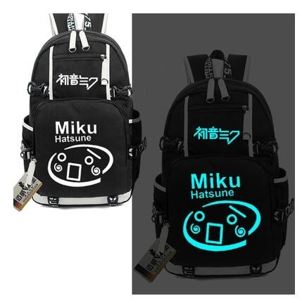 Alto Q Hatsune Mochila Miku Kagamine Ring/Len Miku Soild bolsas escuela Laptop Mochila casual luminoso Cool bolsos