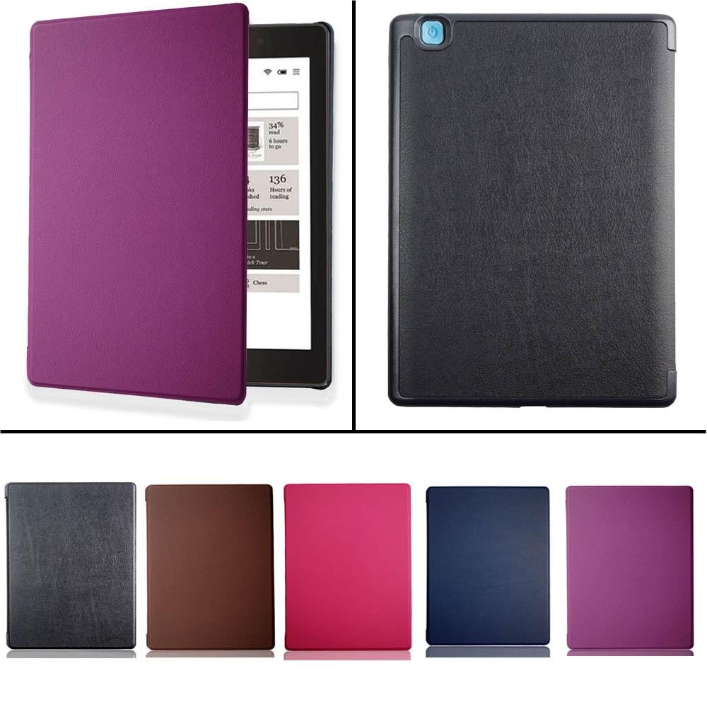 Умный чехол для Kobo Aura One, 7,8 дюйма, электронная книга из искусственной кожи, Карманный чехол с магнитным автоматическим режимом сна и пробужд...