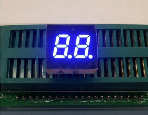 0.3inch 2digits blue 7 segment led display 3202AB/3202BB