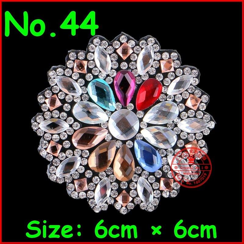 1 Pçs/lote Hot fix Motify strass Patches Remendo Da Flor Applique de Cristal Para As Mulheres Vestido de Noiva Roupas de Patch Roupas DIY