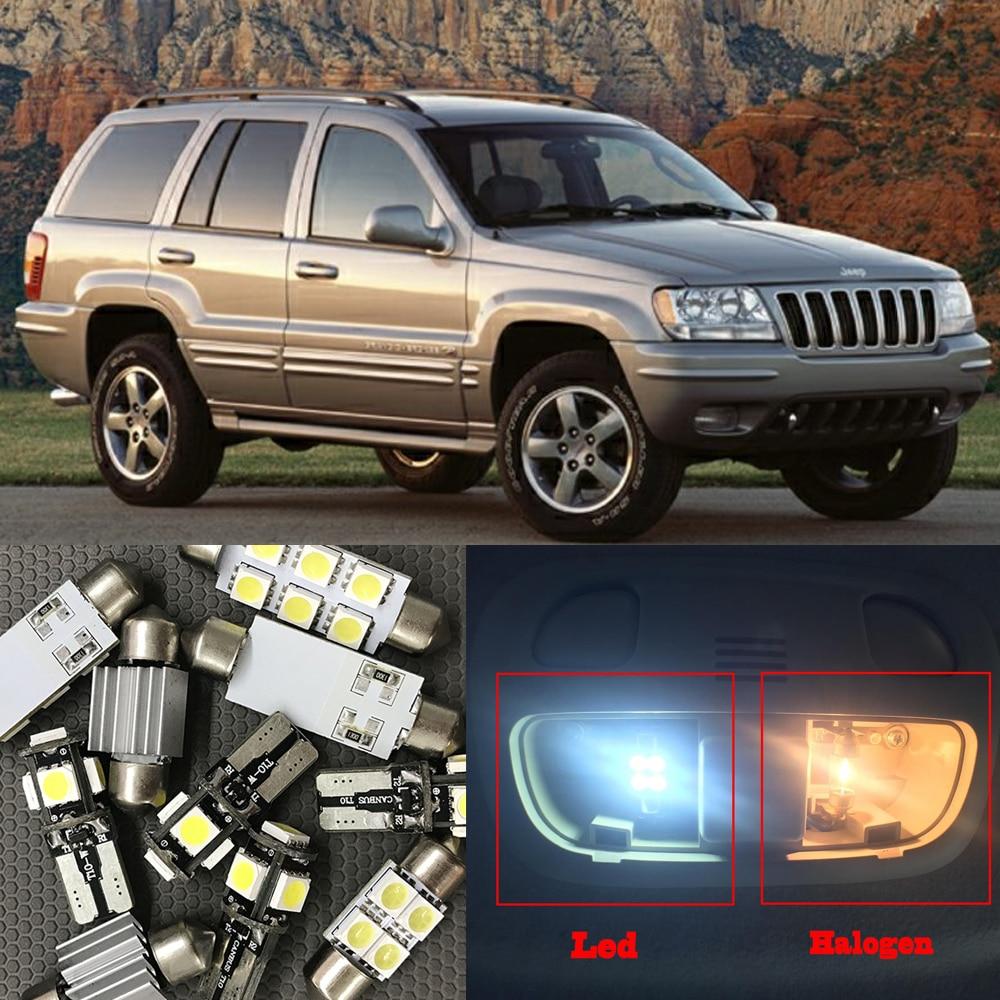 Набор светодиодных ламп Canbus, без ошибок, для Jeep Grand Cherokee 1999-2004