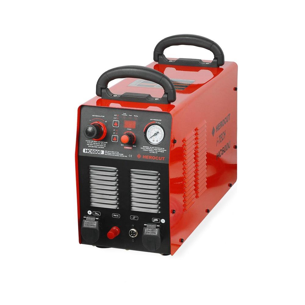 CNC Non-HF Pilot Arc HC6000 60A 220V IGBT Plasma Cutter Digital Control Plasma Cutting Machine Cutting Thickness 20mm