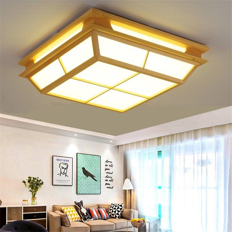 Plafonnier moderne minimaliste lampe à LED chambre carrée salon lumière tatami chambre et lampe de restaurant de style japonais