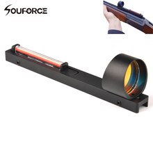 1x25 Red Fiber Red Dot Sight Scope Holographic Sight Fit Shotgun Rib Rail Hunting Shooting Hunting Accessory