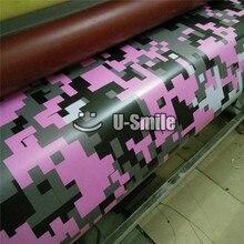 Bandeau de Camouflage numérique rose   Vinyle Camouflage, Pixel habillage de véhicule, bulle sans Air pour emballage de voiture, taille 1.52x3 0m/Roll