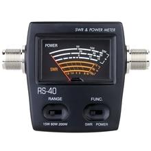 ELEG-Portable Swr Standing Wave Ratio Watt Power Meter For Ham Mobile Vhf Uhf Single Phase Electric Energy Meters