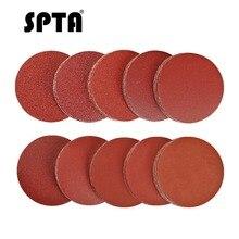 SPTA 100 pièces 3 pouces disques abrasifs tampon orbite aléatoire crochet & boucle Kit travail du bois 40 #-2000 # grain ponceuse sable papier disques grain sable