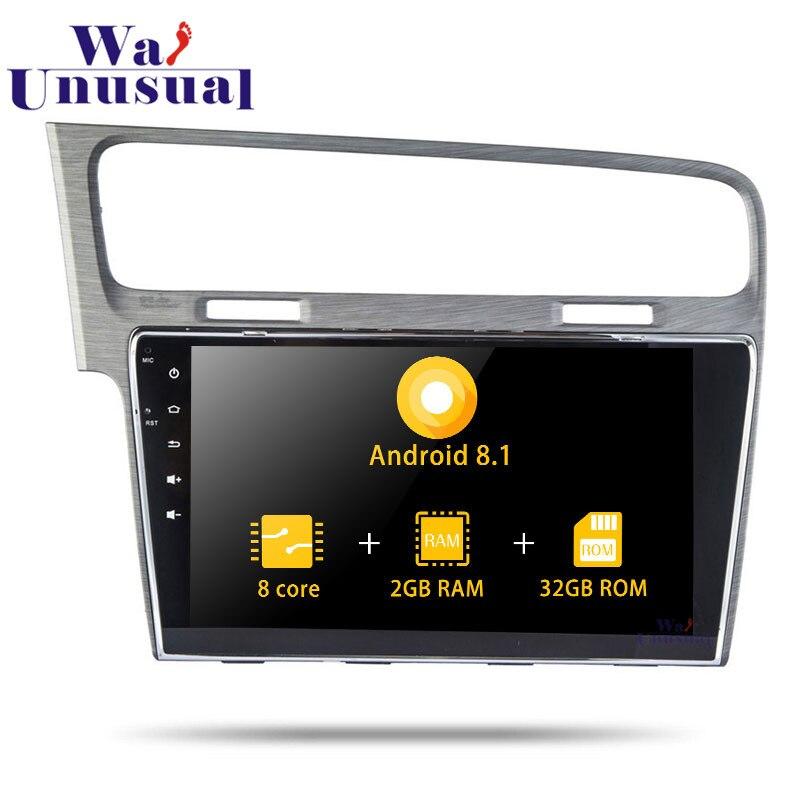 "2din Autoradio Android 8,1 de 10,1 ""Octa Core reproductor multimedia para coche GPS navegación para VW Golf 2014 2015 estéreo 2016 con BT WIFI 3G mapas"