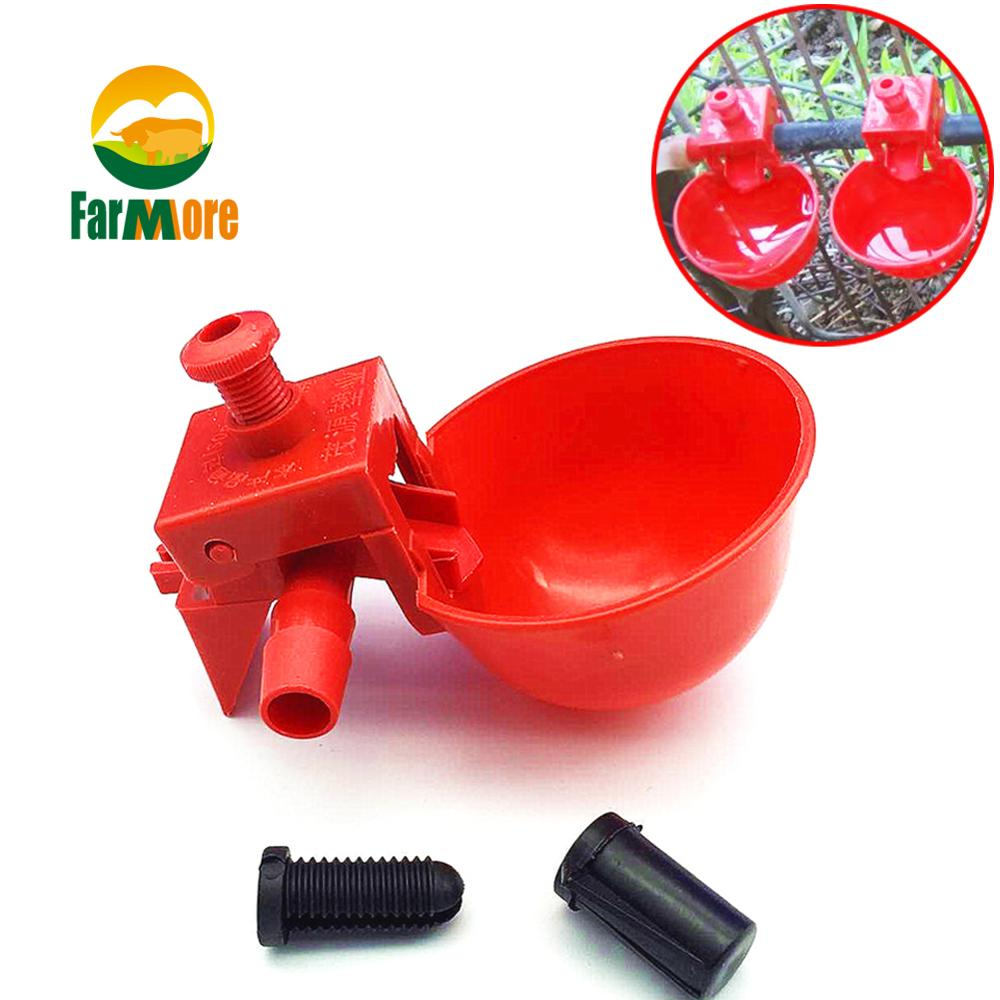 5pcs Chicken Drinker Drinking Cups for Chickens red Quail Waterer Bowl Automatic Poultry Coop Feeder water
