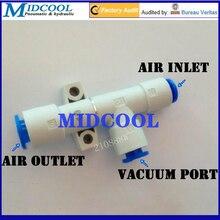 Pompe à vide pneumatique 150L/min   Buse, diamètre 1.8mm basic -88kPa, tuyau de contact de type tubulaire à une touche