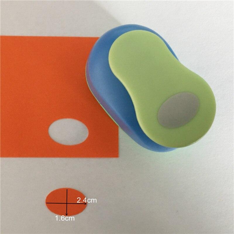 "Envío gratis 1 ""/2,4 cm Forma ovalada espuma EVA perforadora de papel para tarjetas hecha a mano para álbum de recortes elíptico Diseño Artesanal máquina perforadora"