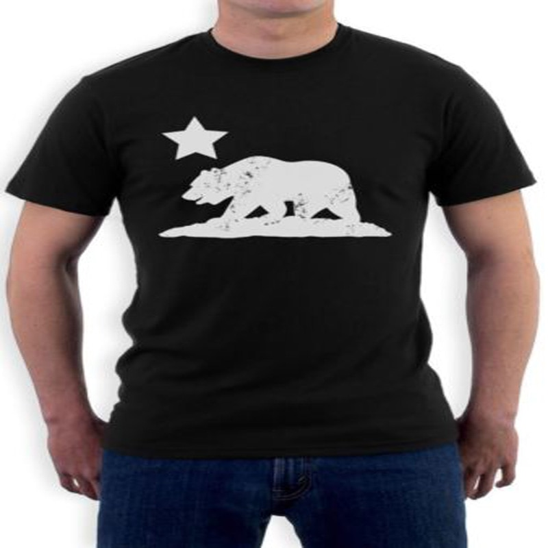 Camiseta VINTAGE de oso de la República de CALIFORNIA, camiseta desgastada Cali Life Dripping Coater