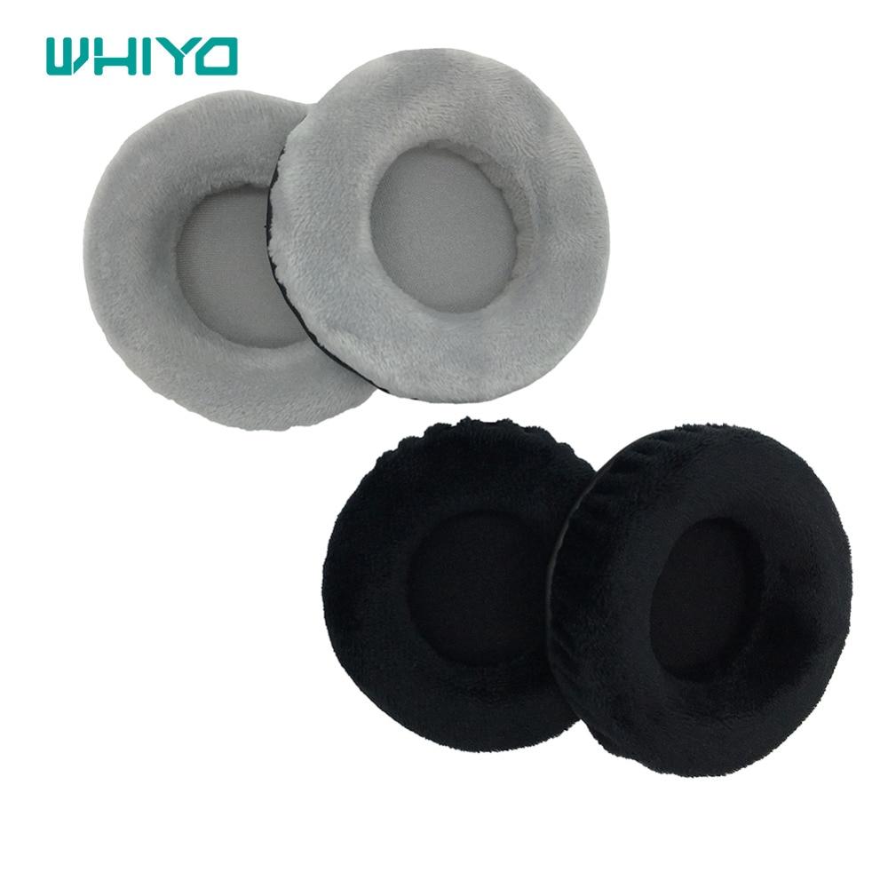 Whiyo 1 pair of Velvet Sleeve Cups Ear Pads Cushion Cover Earpads Earmuff Replacement for Creative Aurvana Platinum Headphones