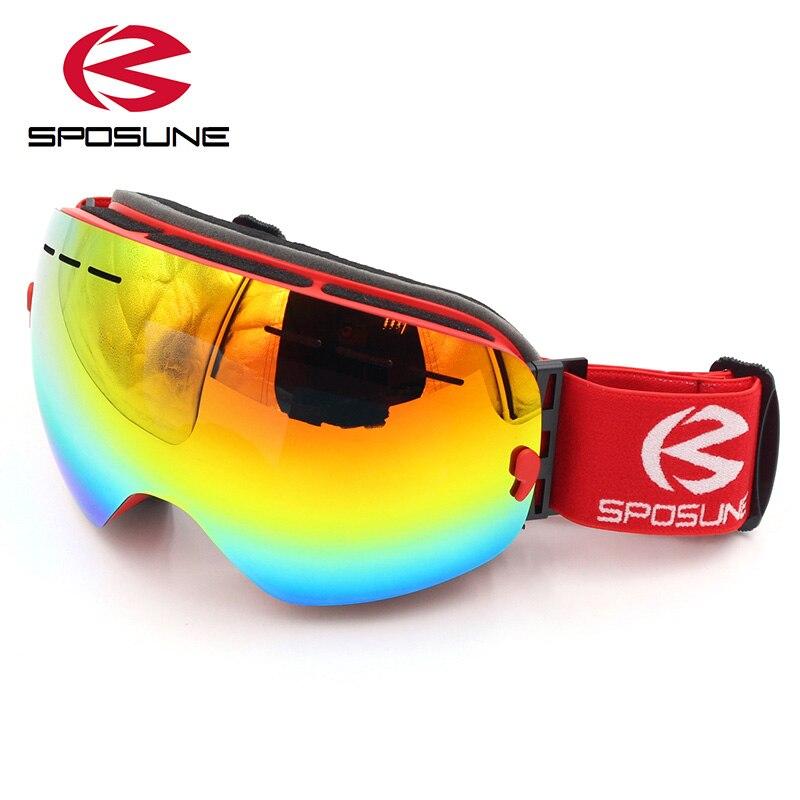 Gafas de nieve para esquí para hombre y mujer, lentes dobles antiniebla...