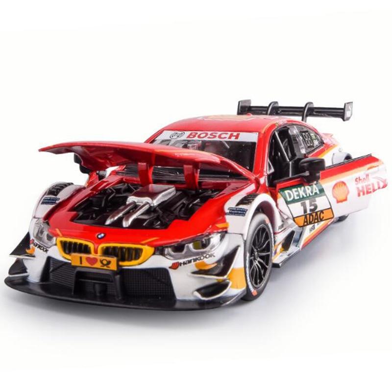 1:32 Car Alloy Sports Car Model 4 DTM Race Car M3 Diecast Sound Light Super Racing Lifting Tail Car Wheels Toys for Children