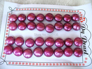 freshwater pearl red coin 11-12mm earrings 16pairs wholesale beads half hole FPPJ
