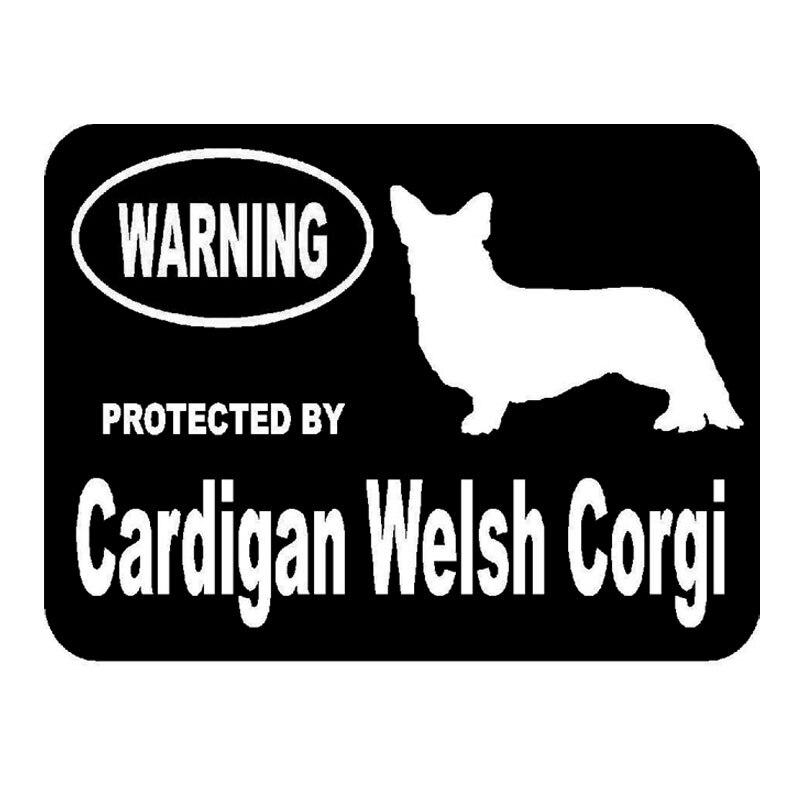14,4 см * 10,7 см автомобильный Стайлинг защищен из изображением собаки породы Вельш-корги-кардиган забавные автомобильные задние наклейки C5-1916