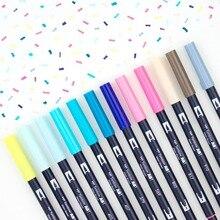 1pc TOMBOW AB-T Japan 96 Farben Kunst Pinsel Stift Doppel Köpfe Marker Beruf Wasser Marker Stift Malerei Kawaii Schreibwaren