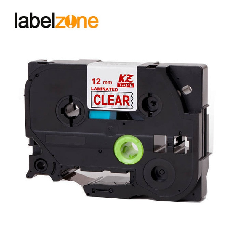Impresora Brother PT Compatible con TZE-132 de 12mm, cinta de recarga de etiquetas roja en claro Tze132 tz-132 tze tz 132 tz132 para fabricante de etiquetas p-touch
