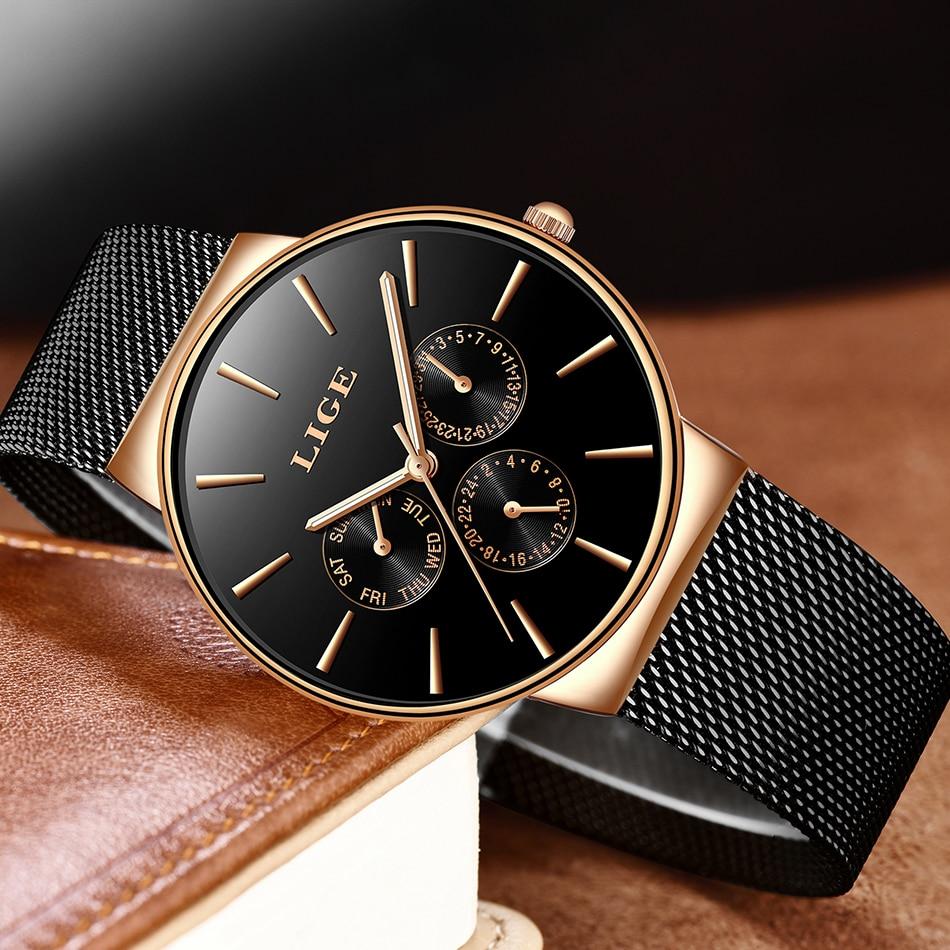 2019 Classic Women Rose Gold Top Brand Luxury Laides Dress Business Fashion Casual Waterproof Watches Quartz Calendar Wristwatch enlarge