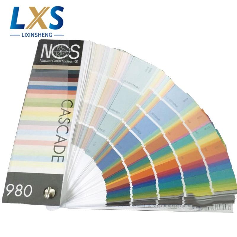 Ncs Nc-1 guia de cor de revestimento portátil suécia ncs cores livro 980 listra revestido padrão para a loja de pintura