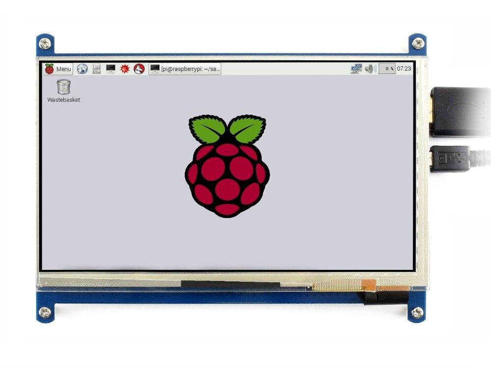 "Waveshare 7 ""HDMI LCD (C) Pantalla táctil capacitiva IPS apoya frambuesa Pi Zero/cero W/cero WH/2B/3B/3B + Monitor de la computadora"
