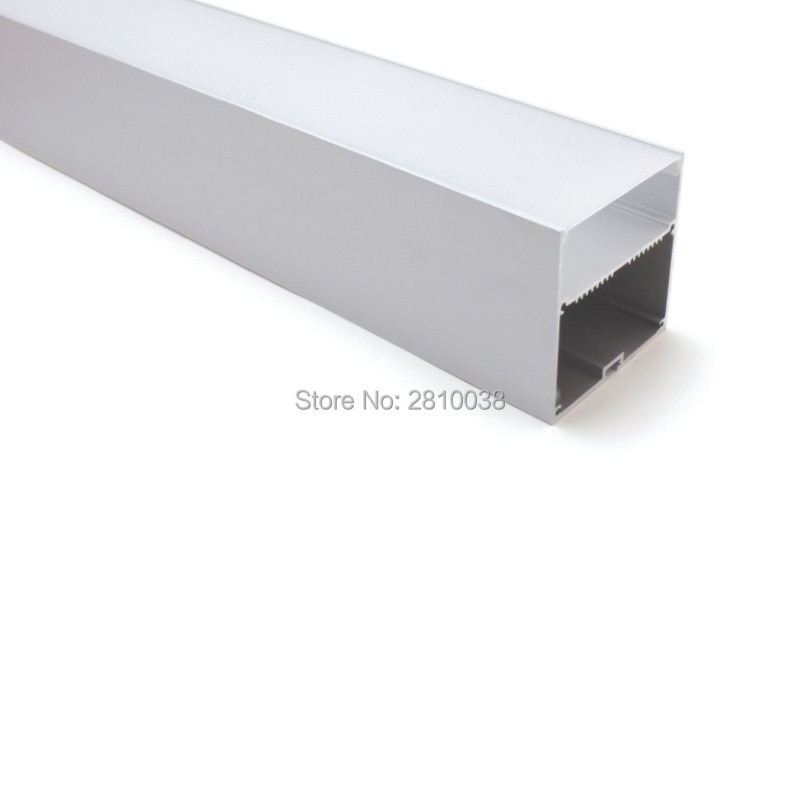 50 X 2M Sets/Lot Office lighting led strip channel Large square type aluminium led housing profile for suspending lamps