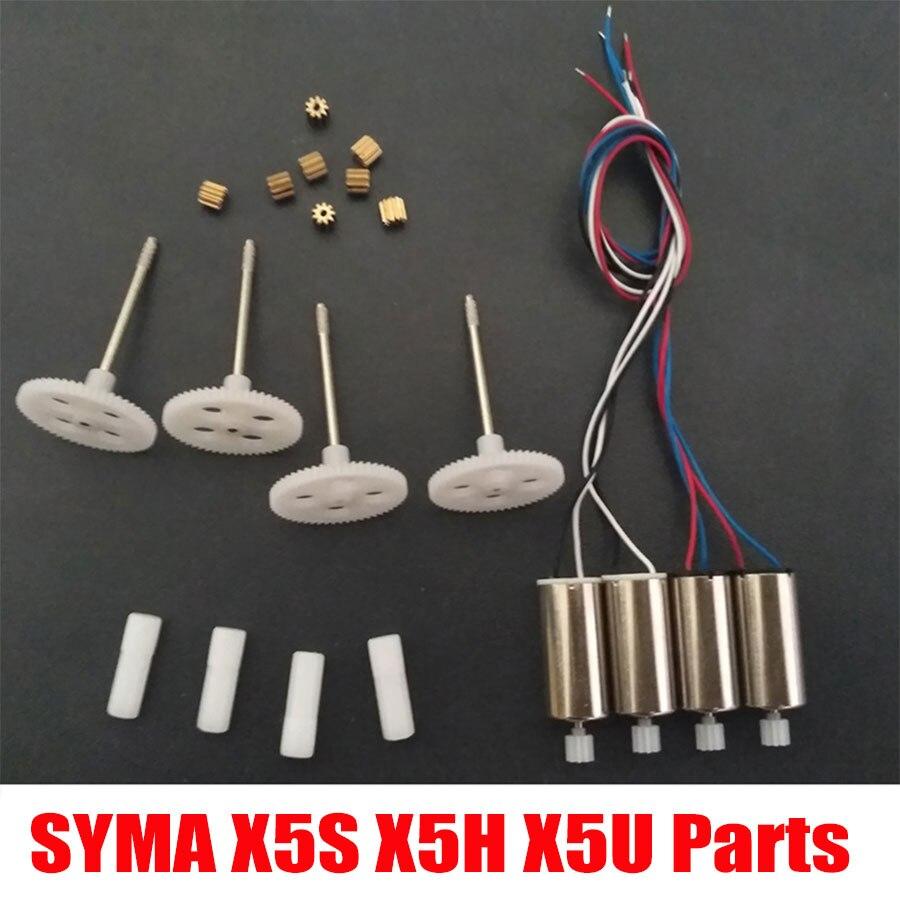 Syma X5SC X5SW RC Drone X5HC X5HW Engrenagem Do Motor E Da Engrenagem Do Motor de Metal OU de Plástico de Substituição Peças De Reposição Para X5UC x5UW