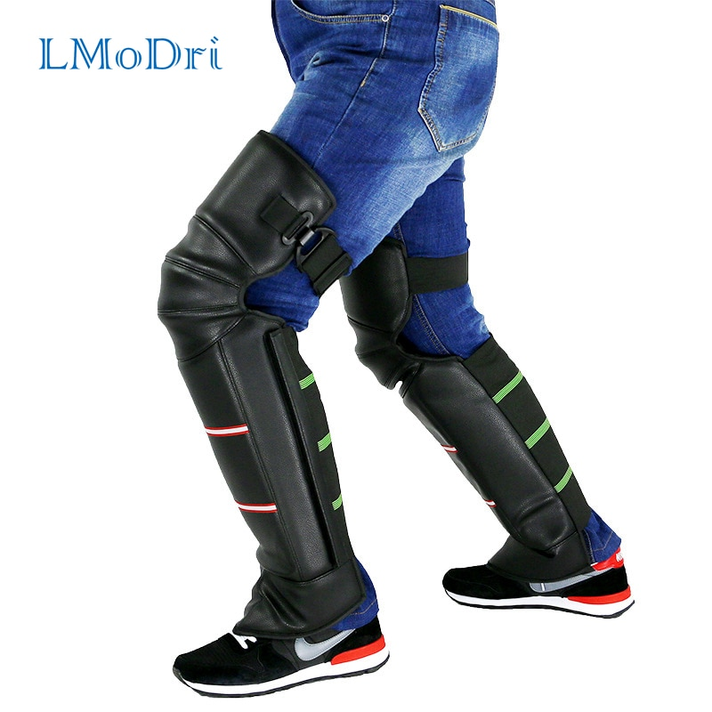 LMoDri Motorcycle Warm Kneepad Legs Warmer Motorbike Riding Protective Knee Pads Windproof Winter PU Leather Waterproof 2pcs/lot