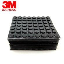 Tampon caoutchouc adhésif noir 3M Bumpon SJ5012 3m   Plateau cylindrique plat, offre une excellente charge de charge et une Performance antidérapante