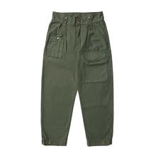 Tornade rouge armée britannique pantalon Vintage pont pantalon Style militaire coupe décontractée grande hauteur
