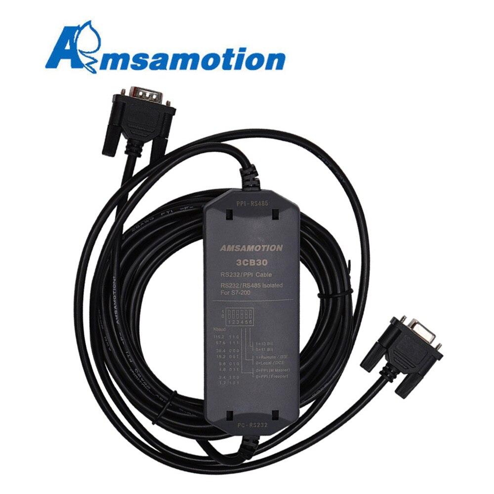 Amsamotion S7-200 PLC كابل برجمة PC-PPI محول لشركة سيمنز 6ES7901-3CB30-0XA0 تحميل خط 187.5kbps دعم WIN7/XP