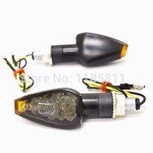 2 uds de motocicleta ámbar triángulo intermitente indicador luces para Kawasaki Ninja ZXR ZX 6R 7R 9R 750 900 personalizado