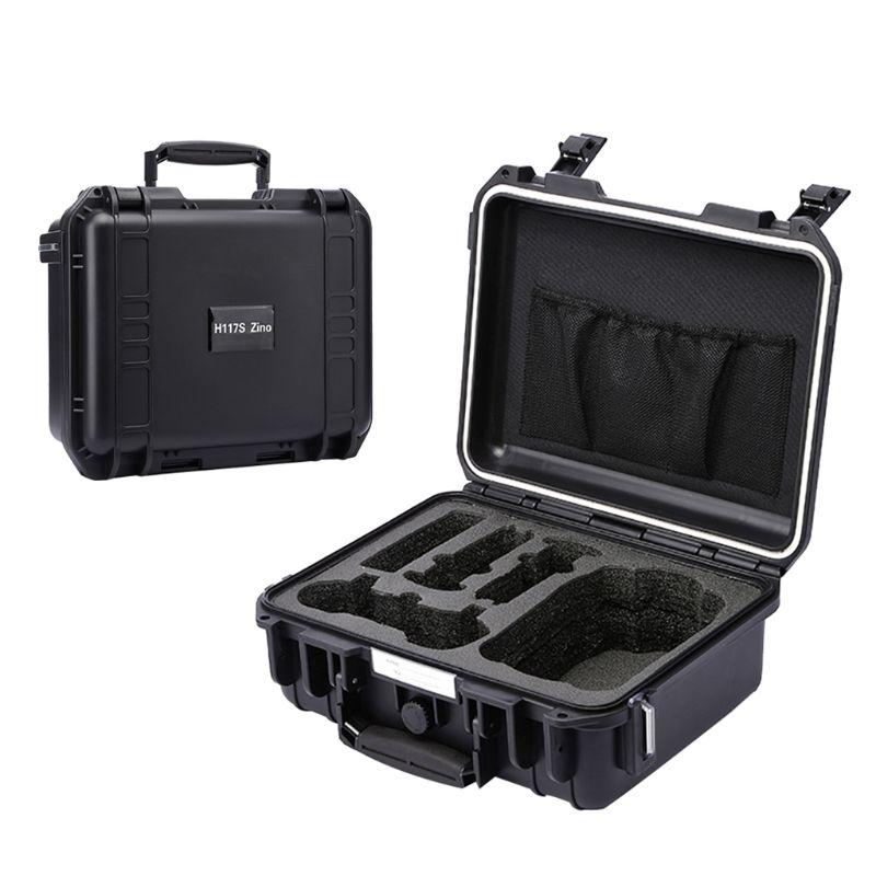 Portátil à prova dportable água difícil eva saco de armazenamento caso transporte para hubsan zino h117s drone rc peças do carro acessórios