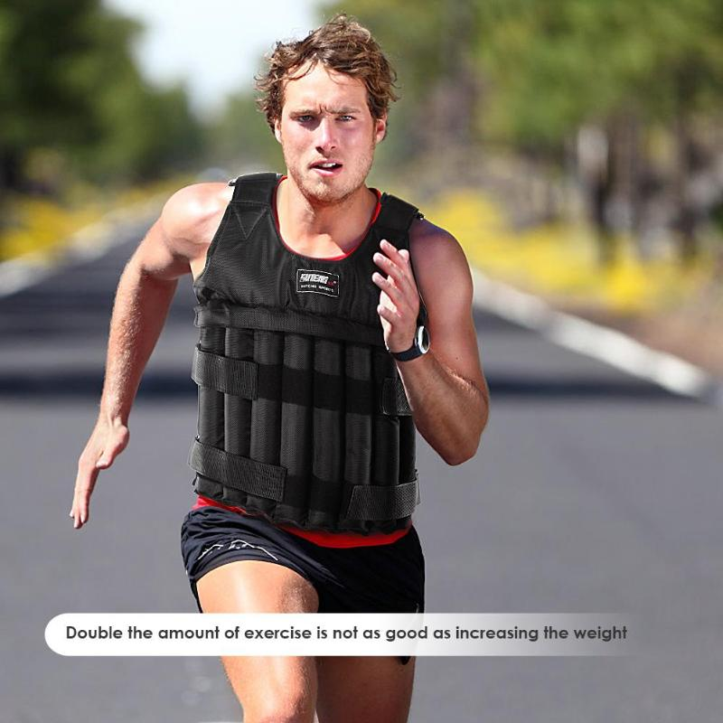 20 kg 50 kg carga máxima ponderada colete ajustável para treinamento de boxe espessamento exercício fitness jaqueta areia roupas