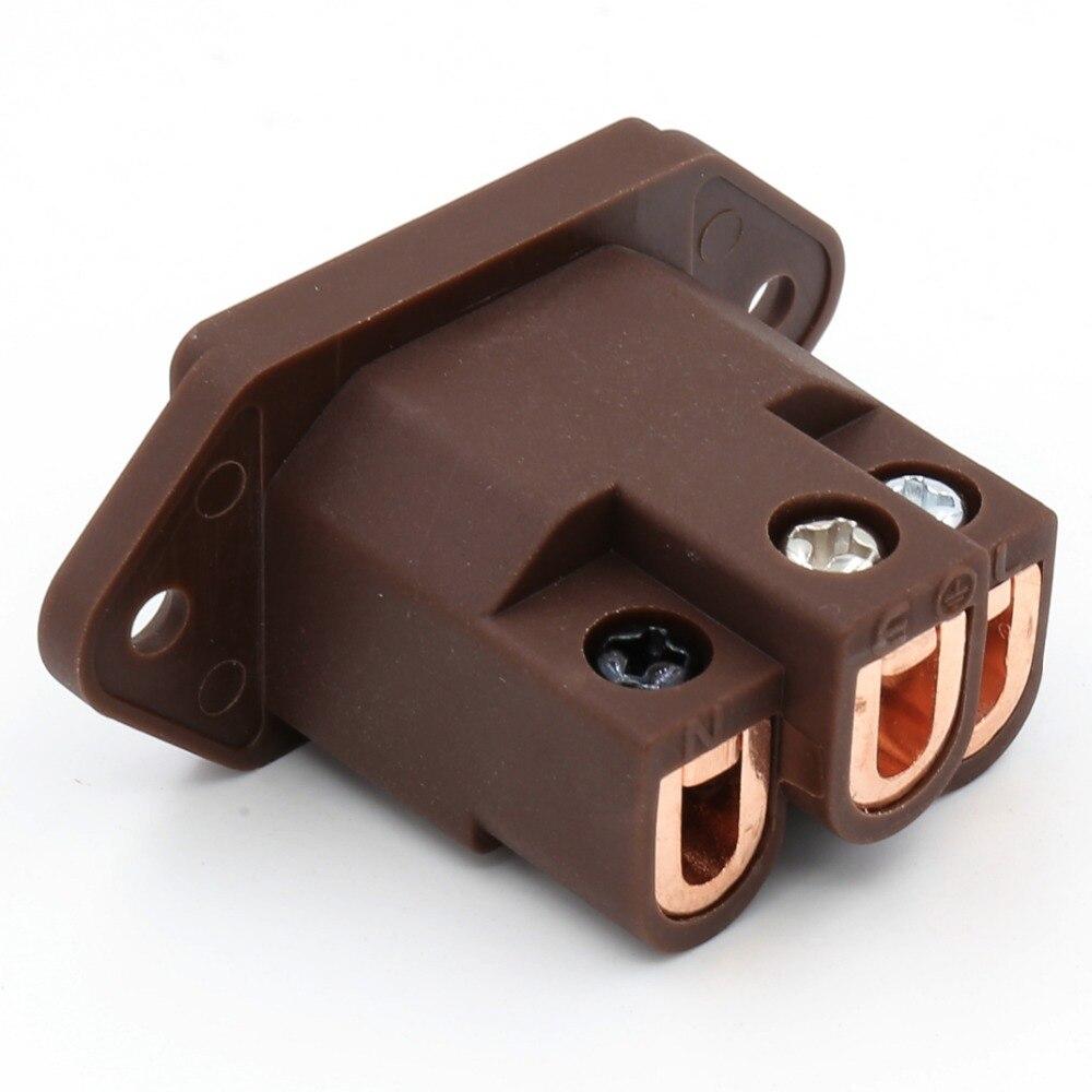 Штепсельные вилки Viborg из чистой красной меди, класс аудио, IEC, переменный ток, розетка IEC