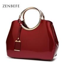 ZENBEFE, лакированная кожа, женская сумка, большая вместительность, женские сумки, красные свадебные сумки, модные вечерние сумки, женская сумк...