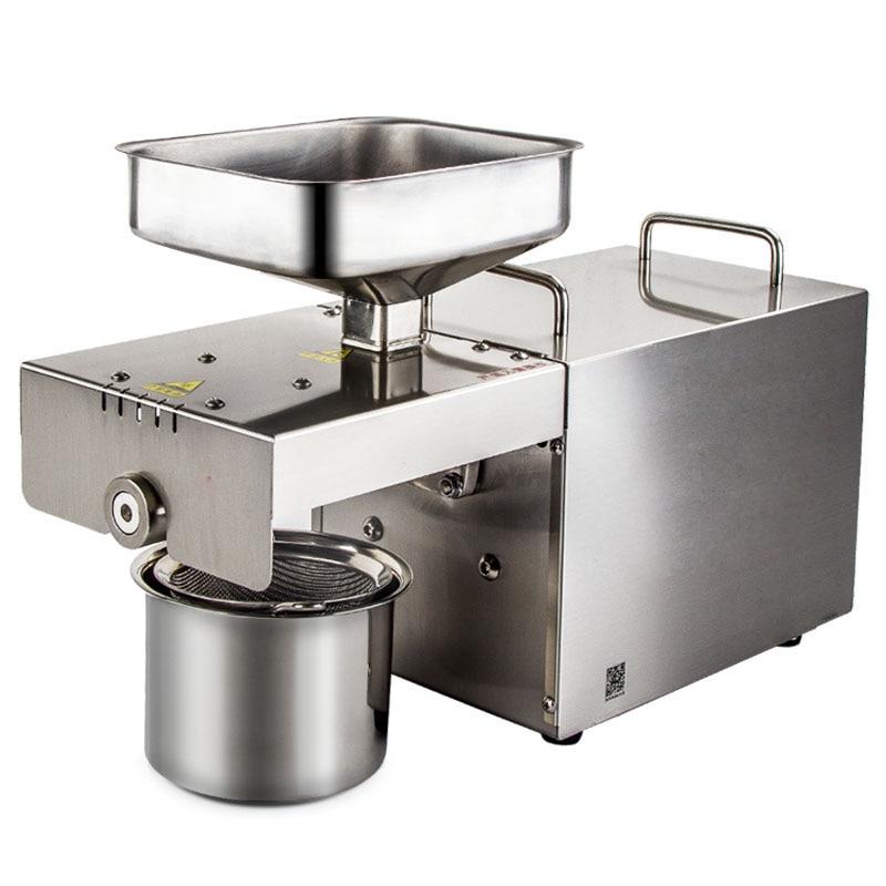 Home oil press machine in oil presser Mini seed oil extractor Peanuts sesame rapeseed CE semi-automatic