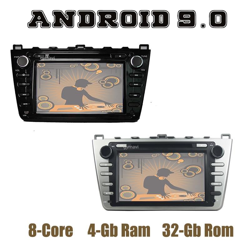 Android 9,0 GPS para coche reproductor de dvd para Mazda 6 Ruiyi Ultra con DSP PX5 octa core wifi usb 4 + 64GB estéreo para coche Unidad Principal