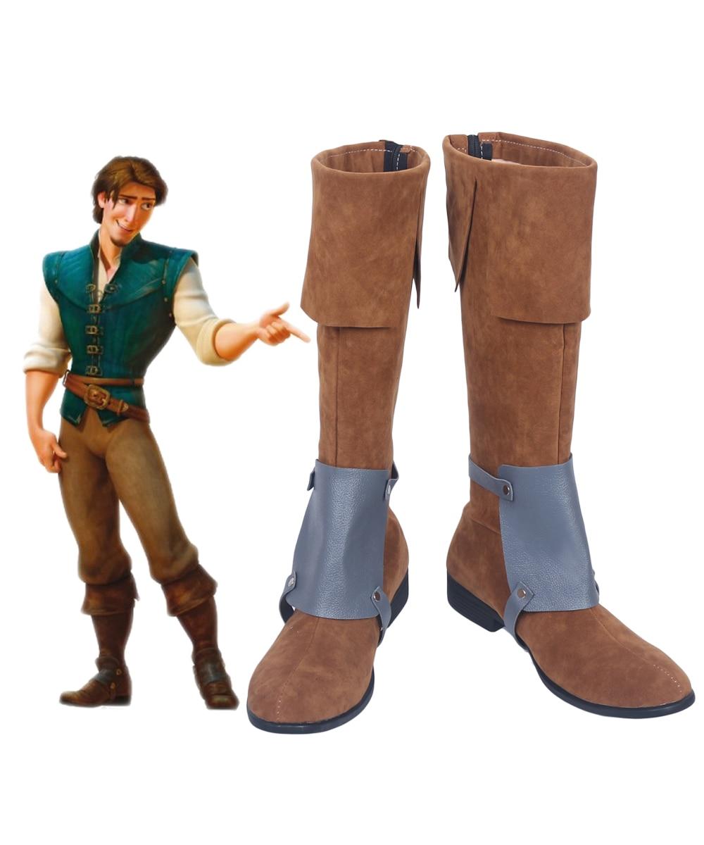 Enredados Rapunzel Flynn Rider Cosplay botas zapatos hechos a medida