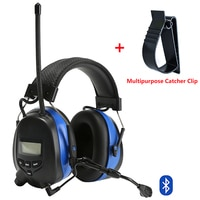 Bluetooth שמיעה הגנת מחממי אוזניים עם מיקרופון אלקטרוני רעש הפחתת טקטי אוזן מגן AM/FM רדיו אוזן מופס