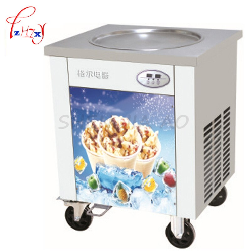 Máquina comercial de helados fritos, máquina plana para freír sartén, máquina para hacer helados yoghourt, máquina para hacer helados fritos CBJY-1DA 1 unidad